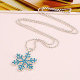 Bijou pendant de collier de diamant de mode de cadeau de Noël de chandail en cristal de flocon de neige