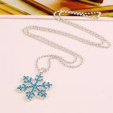 Monili Pendant della collana del diamante di modo del maglione di cristallo del fiocco di neve