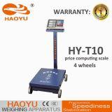 1000kg con la escala computacional del precio electrónico de Digitaces de las ruedas