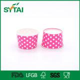 Cuvettes de papier de crême glacée d'usine de la Chine avec le couvercle en plastique
