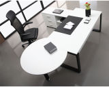 De praktische Witte Houten CEO Uitvoerende Lijst /Desk van het Bureau (NS-D021)