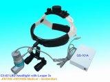 Lumière principale dentaire chirurgicale portative de DEL avec les loupes 4X