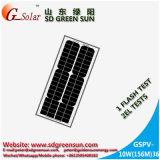mono painel 10W solar para a luz solar, lanterna solar