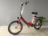 mulheres da bateria de lítio de 36V 10ah que dobram a mini E-Bicicleta da cidade