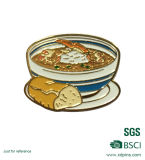 Divisa suave del Pin del esmalte del alimento del metal con las divisas modificadas para requisitos particulares de la dimensión de una variable