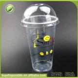 Preiswerte kundenspezifische biodegradierbare Wegwerfcup des Plastikpp. mit Kappen und Strohen