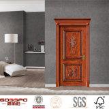 Porte intérieure de type d'artisan d'oscillation en bois antique de chambre à coucher (GSP2-014)