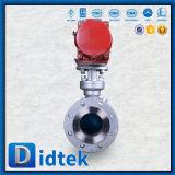 Didtek Feuer-sicheres Metall pneumatisches Drehzapfen-Sitzkugelventil