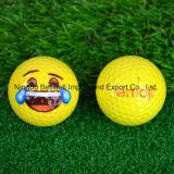 黄色いEmojiの新型のゴルフ・ボールのKissyの表面Emoticonsのゲームのギフト