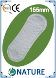 Mini toalha sanitária do aníon ultra fino com asas