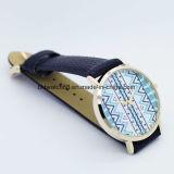 Waterproof melhor o relógio com faixa de couro