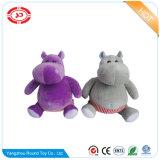 Jouet se reposant bourré mou bleu de peluche de fantaisie de gosses d'hippopotame