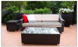 Il sofà esterno del rattan di Mtc-057 5PCS ha impostato con il poggiapiedi