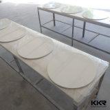 دائم الرخام الأبيض المائدة المستديرة وكراسي الطعام