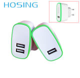 Single / Dual USB 5V 2.1A Noir / Blanc / OEM Couleur Spécial Design EU / Us / UK Plug for Universal Mobile Phone