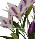 Solo vástago de la flor artificial/plástica/de seda del lirio de tigre (XF30030)