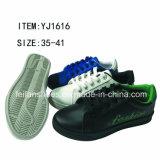 OEM красит ботинки PU впрыски женщин вскользь (FFYJ1223-03)