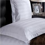 Fronha de almofada branca do hotel do algodão, algodão luxuoso Pillowcover da listra