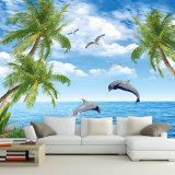 Großhandelsqualitäts-Digital-Drucken-Hintergrund-Natur-tropische Strand-Landschaftstapete