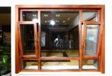 ventana de madera de aluminio de la doble vidriera de 5m m