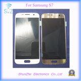 L'affissione a cristalli liquidi dello schermo di tocco per il telefono della galassia per Samsuny S7 G9300 video l'Assemblea