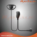 Microfono del ricevitore telefonico di D-Figura per 2 radio di Pin