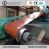 Feuille enduite de l'acier PPGI/PPGL de couleur en bois de configuration dans la bobine 0.2-2.0mm*600-1250mm