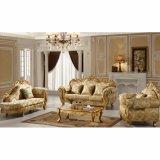 居間の家具(619D)のための木ファブリックソファー