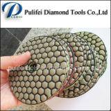 다이아몬드 수지 유연한 화강암 닦는 패드