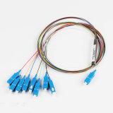 divisore d'acciaio del PLC del tubo 1X4 dello Sc della fibra del cavo MP di 0.9mm