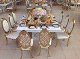 Нержавеющая сталь золота Rose мебели случая венчания обедая стул