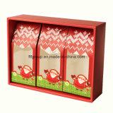 Коробка цветка картона горячего сбывания чувствительная красная обувает бумажную коробку