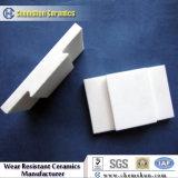 Mattonelle di ceramica di usura dell'allumina della saldatura con il puntale dell'acciaio e del foro