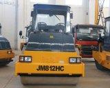 Machine automotrice de route de tambour de 12 tonnes double (JM812HC)
