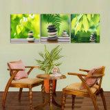 La peinture de mur moderne de vente chaude de 3 parties lapide et laisse peinture l'illustration décorative à la maison d'art de mur peinte sur les impressions Mc-194 de maison de toile