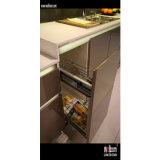 Grand réfrigérateur de Module de cuisine gris lustré élevé de laque