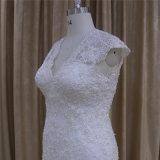 5665高品質の完全なレースの袖なしの優雅なウェディングドレス2016年
