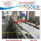 Linha plástica da extrusão da faixa da borda do PVC da máquina da extrusora com corte do sistema