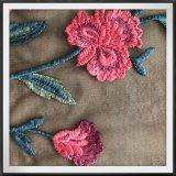 網によって刺繍されるレースのナイロンテュルのレーヨン刺繍のレース