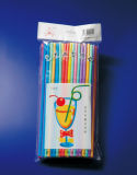 7colors Plastic Artistic 6*270mm Straw