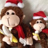 Jouet mignon se reposant de la meilleure de cadeau de Noël d'animal peluche molle de singe