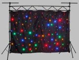 RGBW Mix Full Colors 4*6m RGB Star Backdrop를 가진 Ledj Star Curtain Twinkling Matrix LED Cloth