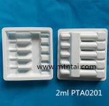 Het Plastic Dienblad van pvc voor 2ml de Ampullen van het Glas