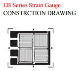 Constantan Measuring Grid Material Karma Polyimide Backing Material Tee Rosette Strain Gauge