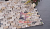 Beige Travertin Mix Shell, Metall und Kristall-Mosaik-Fliesen (CFP070)
