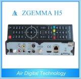 El receptor basado en los satélites Zgemma H5 del T2 combinado de DVB S2 DVB con Bcm73625 se dobla rectángulo superior determinado de Hevc H. 265 IPTV del soporte de la base