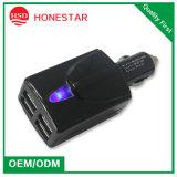 Заряжатель автомобиля USB большой силы 4 для компьтер-книжки и мобильного телефона и цифровой фотокамера