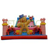 Funny gigante Kids Moonwalk Jumper Inflatable Bouncer Slide para Sale