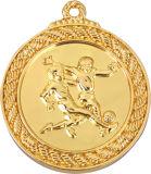Nachgemachte Vergoldung Vollyball Spiel-Medaillen