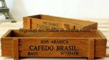 Rectángulo de madera de la vendimia de encargo con el acabamiento antiguo